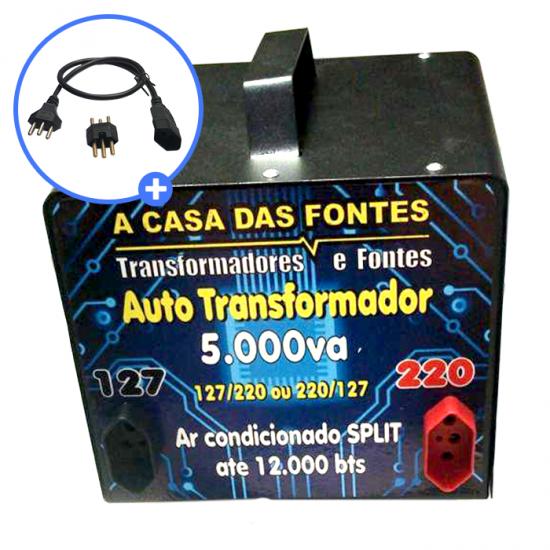 Auto transformador 5000VA Gabinete metálico com pintura Eletrostática  [110 para 220 e/ou 220 para 110]